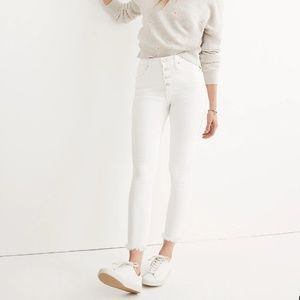 "10"" High-Rise Skinny Crop Jeans: Button-Front"
